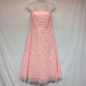 BCBGMaxAzria Pink Tulle Party Dress Size 8